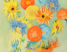 Van Goghian Sunflowers