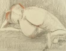 Nude in Charcoal and Pastel