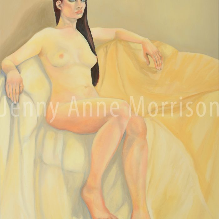 Girl on a Big Yellow Sofa