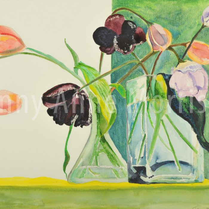 Tulips and Vases