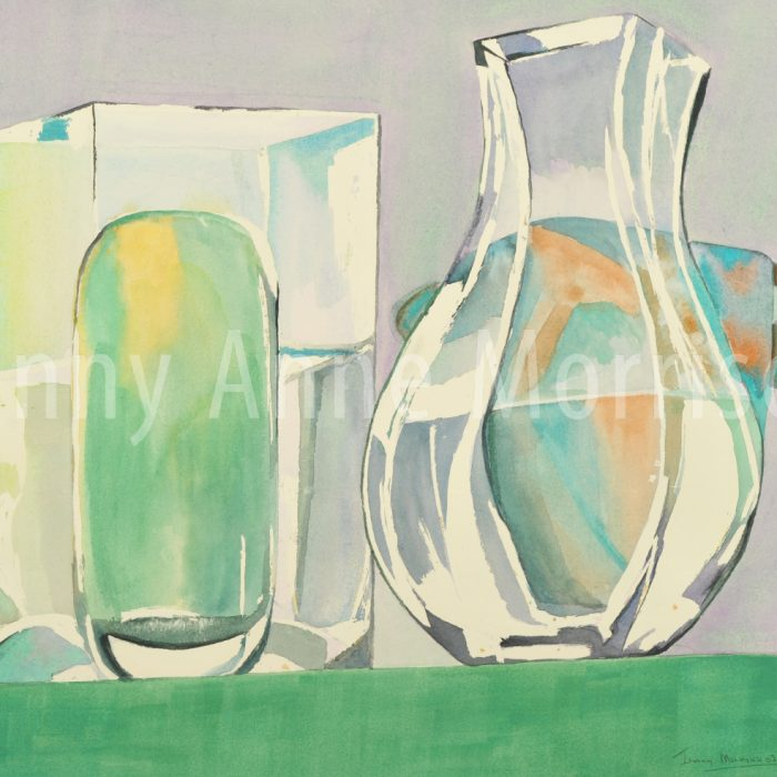 Vases in Shades of Green